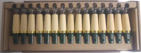Holzschaft Innenlichterkette mit 15 Spitzkerzen,Ahorn