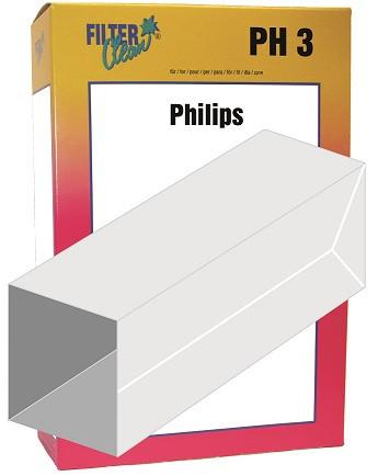 Staubsaugerbeutel PH3 Papierfilter Phillips