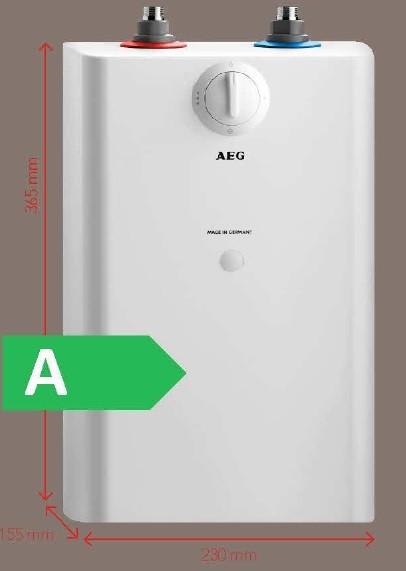 Heißwasserspeicher U5 2kW AEG HxBxT 36,5x23,0x15,5cm