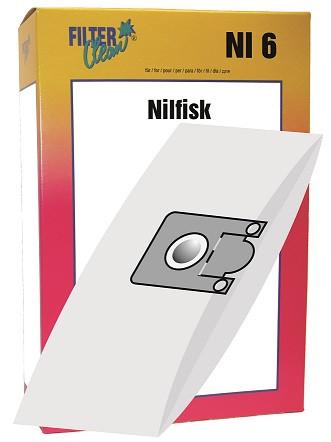 Staubsaugerbeutel NI6 Papierfilter Nilfisk