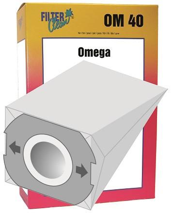 Staubsaugerbeutel Omega40 Papierfilter Contur