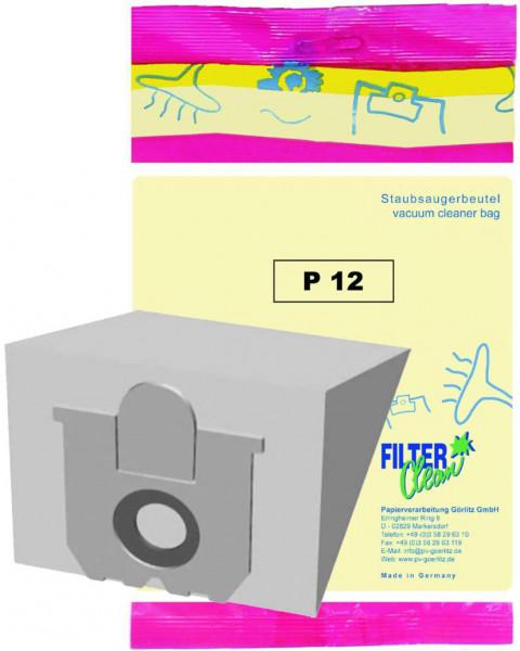 Staubsaugerbeutel P12 Papierfilter Progress