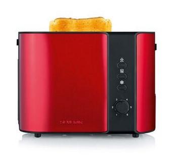 Toaster Severin AT2217 schwarz/rot metallic