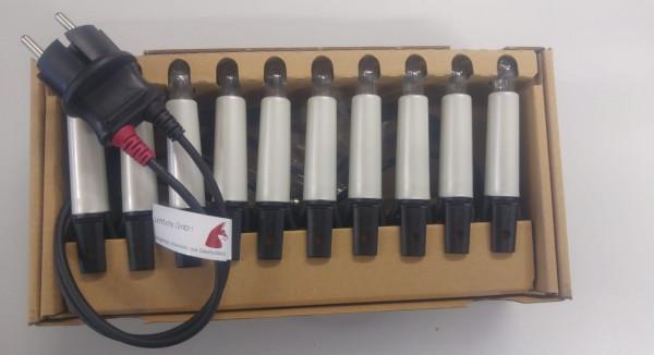 Schwibbogenkette-Außen 10 Perlmuttschaftkerzen 96506, 17cm Kerzenabstand