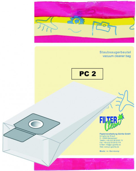 Staubsaugerbeutel PC2 Papierfilter Panasonic