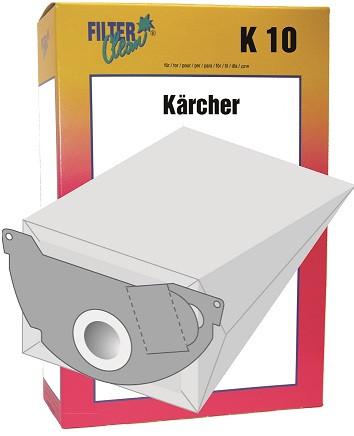 Staubsaugerbeutel K10 Papierfilter Kärcher K10