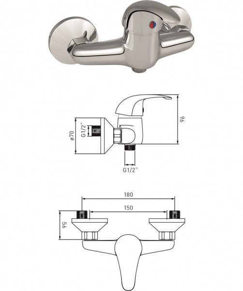 Brause-Einhandmischer MS vc DN 15
