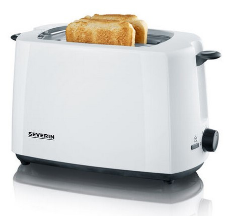 Toaster Severin AT2286 Severin weiß mit schwarz