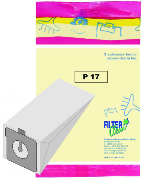 Staubsaugerbeutel P17 Papierfilter Progress