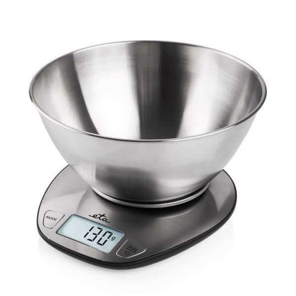 Digitale Küchenwaage DORI 6778 Omega /ETA max 5kg Edelstahlschüssel