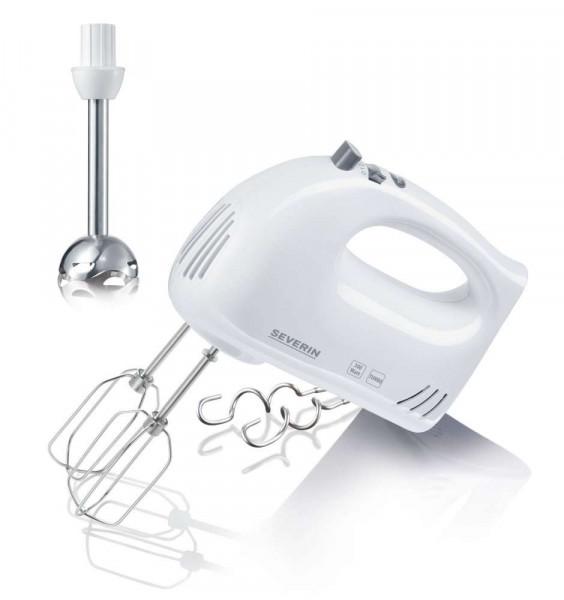 Handmixer Severin HM3822 300W weiß-grau m. Stabmixer